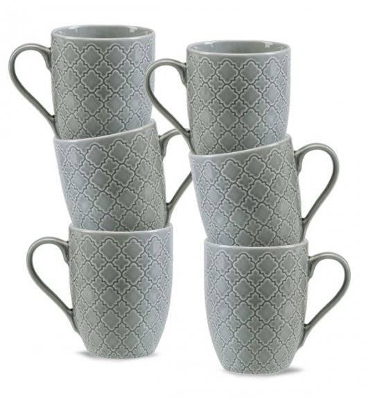 LUBIANA MARRAKESZ K1 6 x kubek 350 ml / szary / porcelana