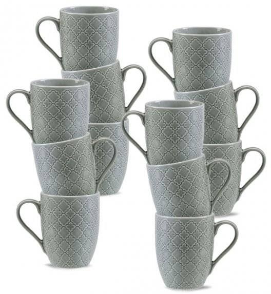 LUBIANA MARRAKESZ K1 12 x kubek 350 ml / szary / porcelana