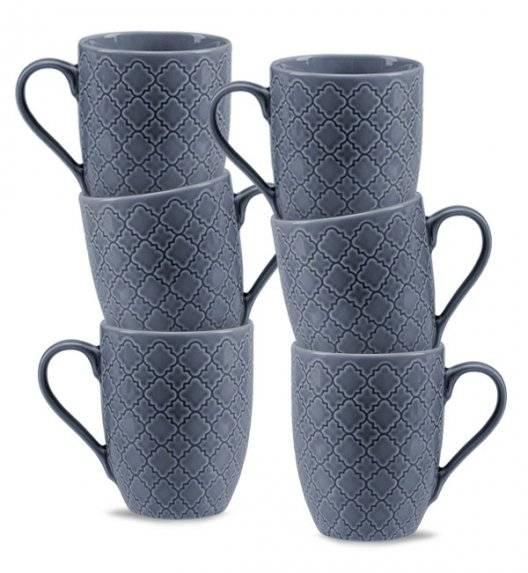 LUBIANA MARRAKESZ K9 6 x Kubek 350 ml / szaro - niebieski / porcelana