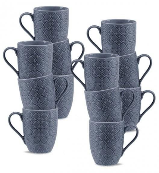 LUBIANA MARRAKESZ K9 12 x Kubek 350 ml / szaro - niebieski / porcelana
