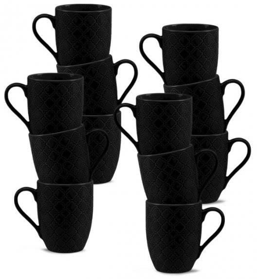 LUBIANA MARRAKESZ K8 12 x Kubek 350 ml / czarny / porcelana