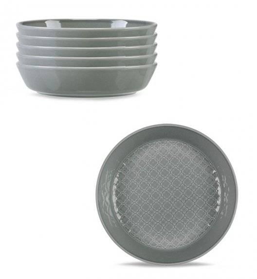 LUBIANA MARRAKESZ K1 6 x Talerz głęboki 20 cm / szary / porcelana