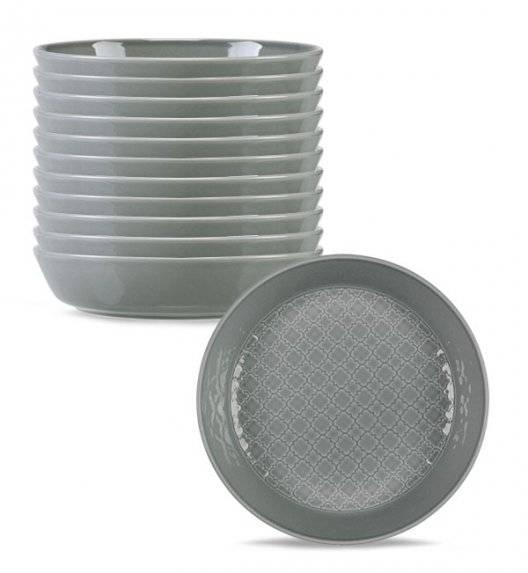 LUBIANA MARRAKESZ K1 12 x Talerz głęboki 20 cm / szary / porcelana