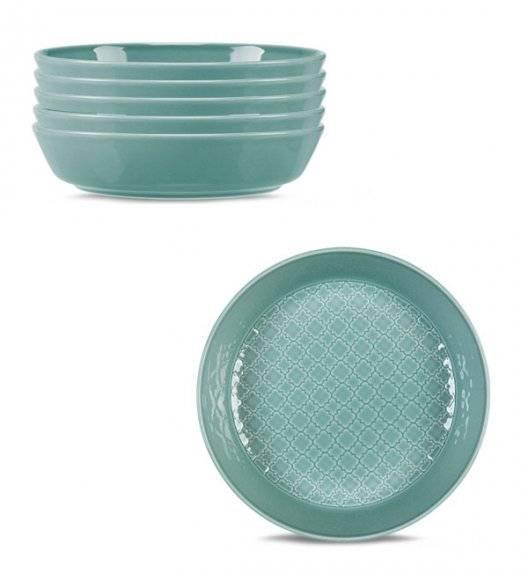 LUBIANA MARRAKESZ K5 6 x Talerz głęboki 20 cm / morski / porcelana