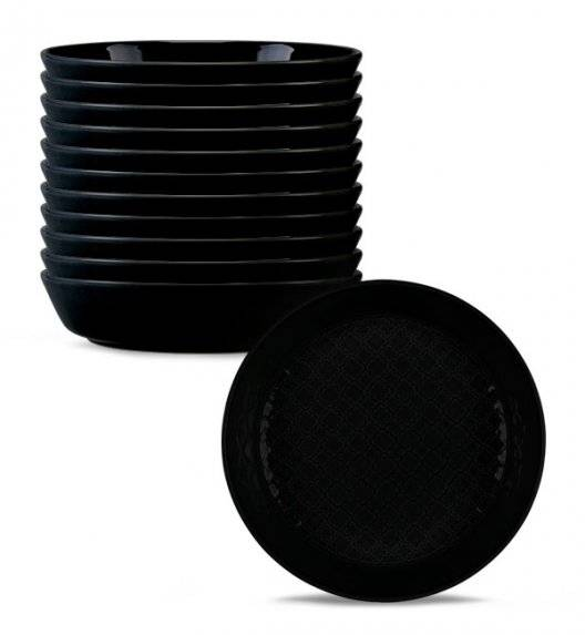 LUBIANA MARRAKESZ K8 12 x Talerz głęboki 20 cm / czarny / porcelana