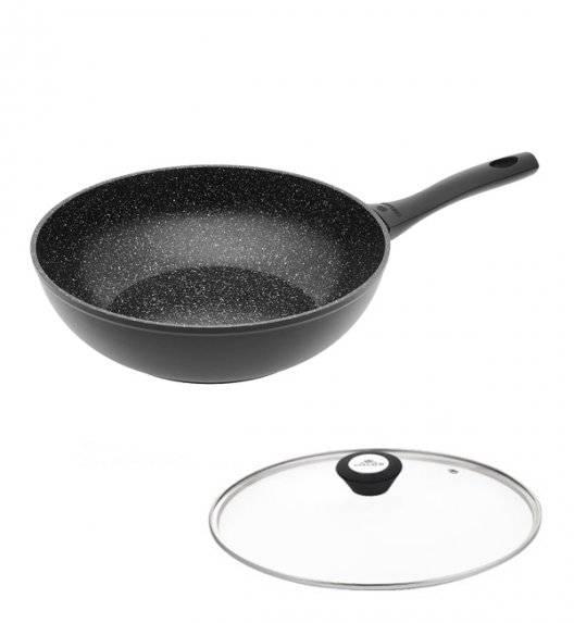 GERLACH GRANITEX Wok z powłoką ceramiczną  ILAG Xera Dur 2® 28 cm + pokrywka uniwersalna  / aluminium