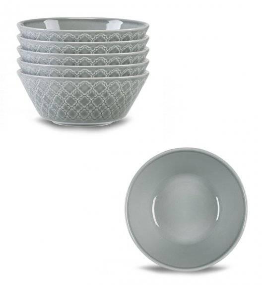LUBIANA MARRAKESZ K1 6 x salaterka 15 cm / szary / porcelana