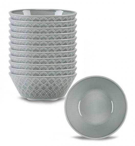 LUBIANA MARRAKESZ K1 12 x salaterka 15 cm / szary / porcelana