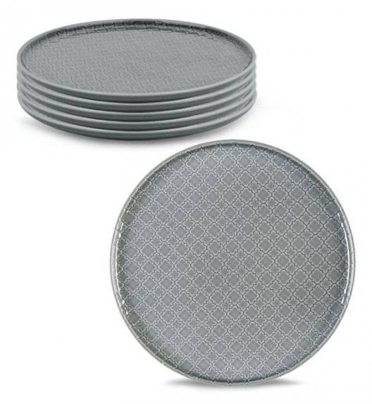 LUBIANA MARRAKESZ K1 6 x talerz obiadowy 26 cm / szary /porcelana