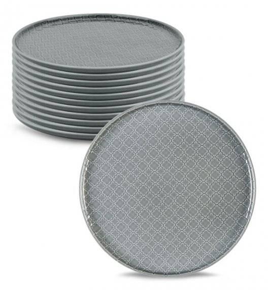 LUBIANA MARRAKESZ K1 12 x talerz obiadowy 26 cm / szary /porcelana