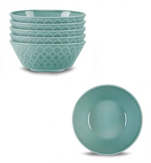 LUBIANA MARRAKESZ K5 6 x salaterka 15 cm / morski / porcelana