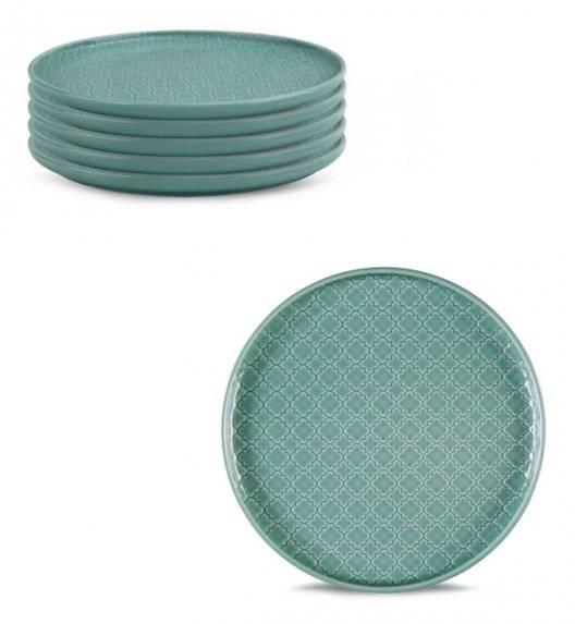 LUBIANA MARRAKESZ K5 6 x talerz deserowy 20 cm / morski / porcelana