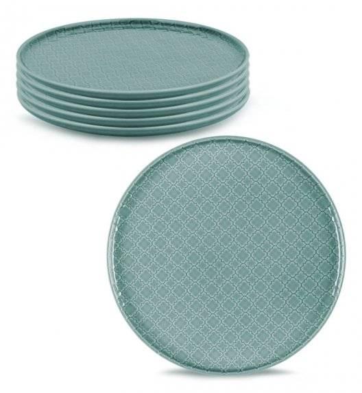 LUBIANA MARRAKESZ K5 6 x talerz obiadowy 26 cm / morski /porcelana