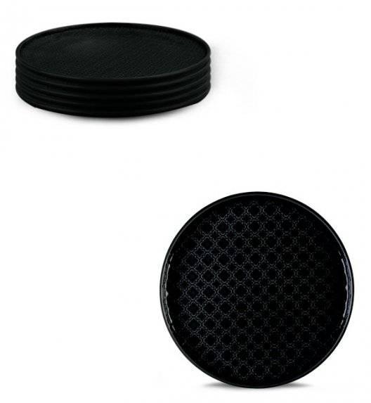 LUBIANA MARRAKESZ K8 6 x talerz deserowy 20 cm / czarny / porcelana