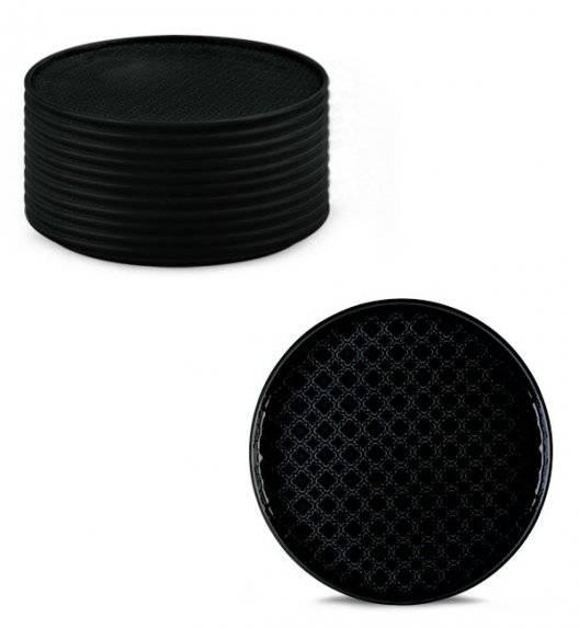 LUBIANA MARRAKESZ K8 12 x talerz deserowy 20 cm / czarny / porcelana