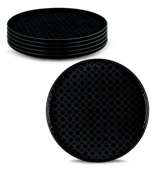 LUBIANA MARRAKESZ K8 6 x talerz obiadowy 26 cm / czarny /porcelana