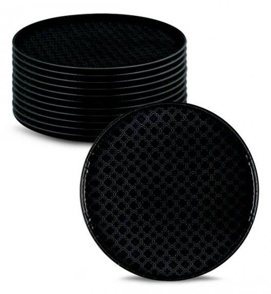 LUBIANA MARRAKESZ K8 12 x talerz obiadowy 26 cm / czarny /porcelana