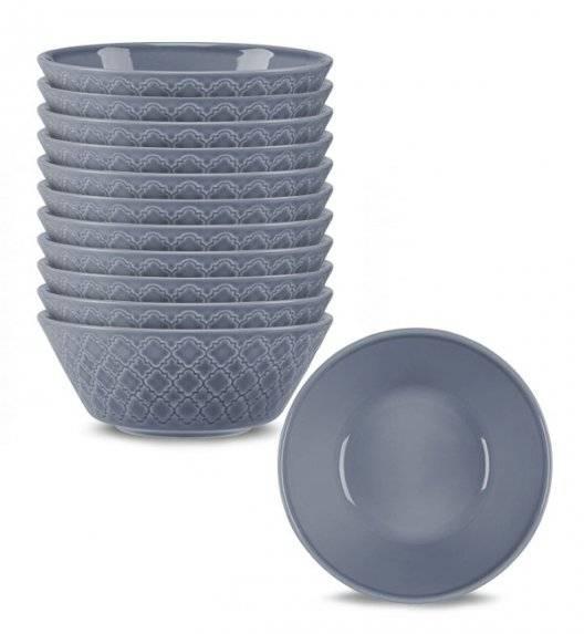 LUBIANA MARRAKESZ K9 12 x salaterka 15 cm / szaro - niebieski / porcelana