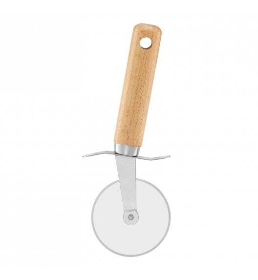 AMBITION NATURAL Radełko / Nóż do pizzy / stal nierdzewna + drewno bukowe