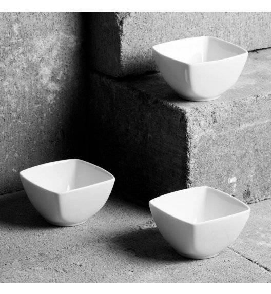 AMBITION SALSA Komplet 3 salaterek kwadratowych 8,3 cm / porcelana