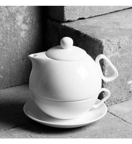 AMBITION SALSA Komplet do herbaty / filiżanka + dzbanek / porcelana