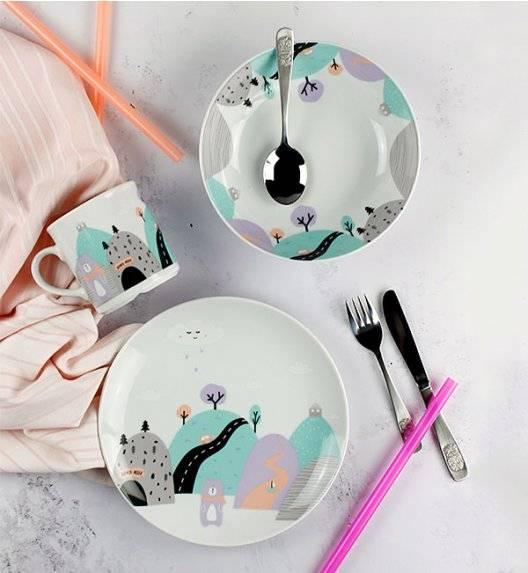 LUBIANA DOMEK MISIA 8621 Komplet obiadowy dla dzieci 3 el / fioletowy/ porcelana