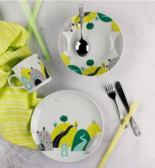 WYPRZEDAŻ! LUBIANA DOMEK MISIA 8620 Komplet obiadowy dla dzieci 2 el / zielony/ porcelana