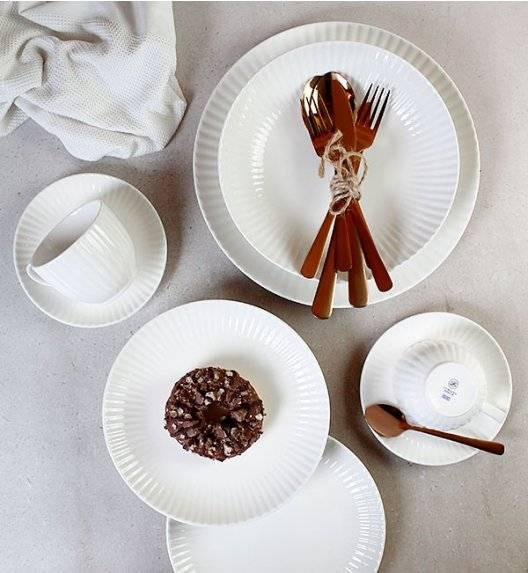 LUBIANA DAISY IVORY Ecru Serwis obiadowo - kawowy 24 osoby / 120 elementów / Porcelana