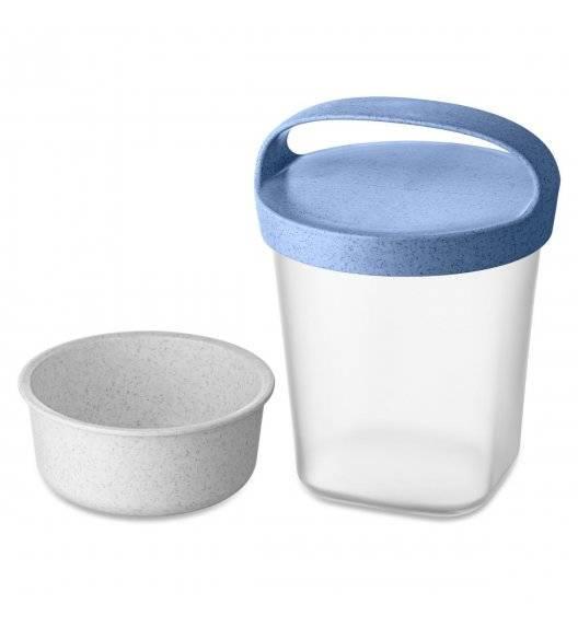 KOZIOL ORGANIC Lunchbox / pojemnik na żywność 500 ml / niebieski + biały