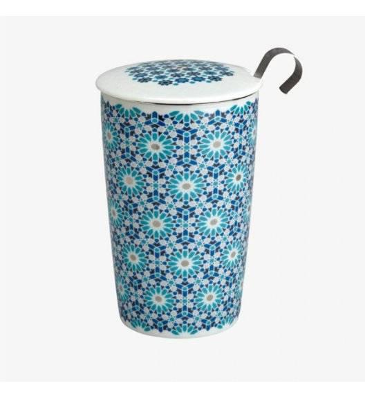 EIGENART TEAEVE Kubek z zaparzaczem 350 ml / niebieski / porcelana