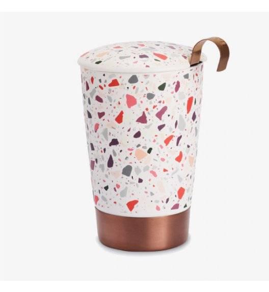 EIGENART TEAEVE Kubek porcelanowy z zaparzaczem 350 ml / wielokolorowy