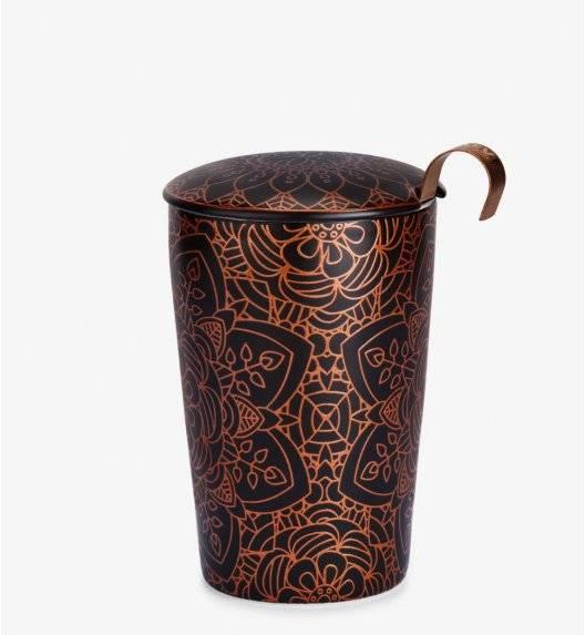 EIGENART MANDALA EBONY Kubek z zaparzaczem 350 ml / porcelana