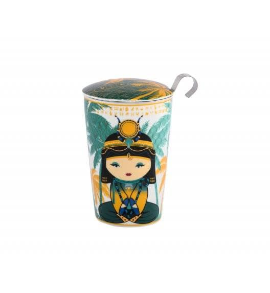 EIGENART EGYPT PETROL Kubek z zaparzaczem 350 ml / porcelana