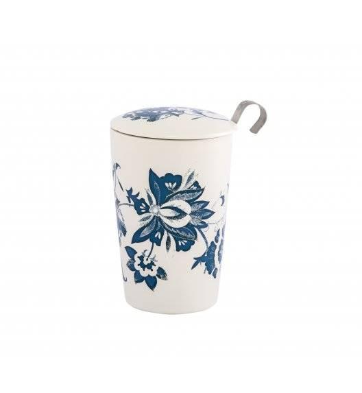 EIGENART LUNA Kubek z zaparzaczem 350 ml / biały / porcelana