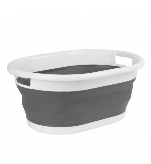 TADAR SILICO Składany silikonowy kosz na pranie / szary
