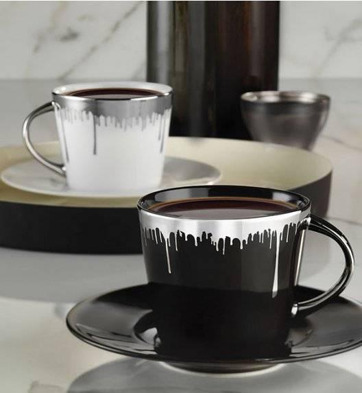 WYPRZEDAŻ! KUTAHYA TOLEDO BW Komplet dwóch filiżanek + 1 spodek 200 ml / porcelana