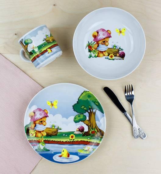LUBIANA MIŚ 6755 Komplet obiadowy dla dzieci 3 el / porcelana