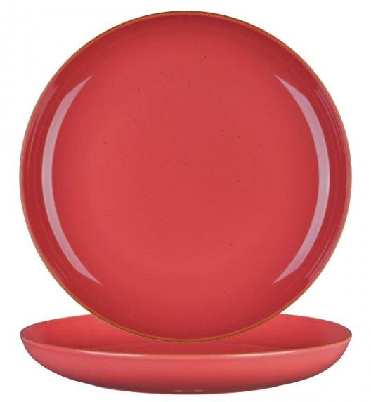 LUBIANA RONDO KK Talerz obiadowy 27 cm / koralowy / porcelana