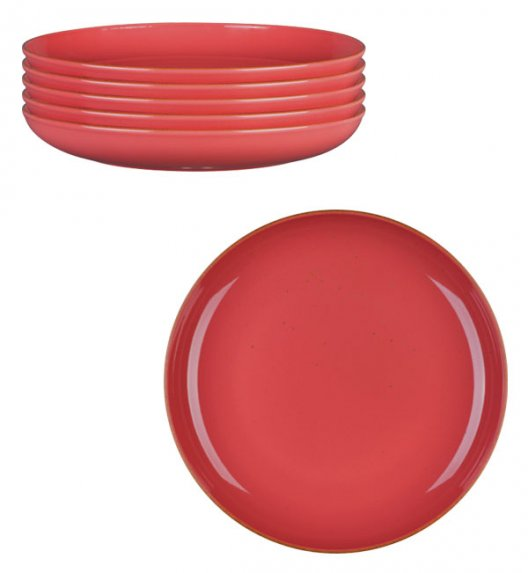 LUBIANA RONDO KK 6 x Talerz obiadowy 27 cm / koralowy / porcelana