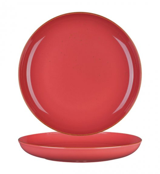 LUBIANA RONDO KK Talerz deserowy 22 cm / koralowy / porcelana