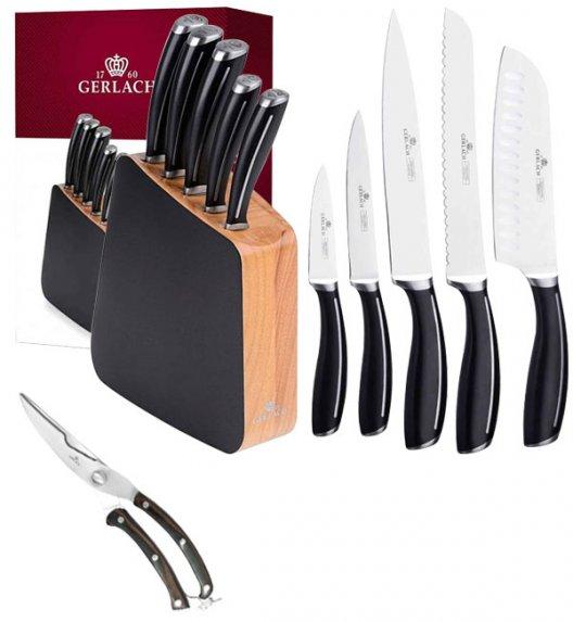 GERLACH LOFT Komplet 5 noży w bloku + nożyce drewniane do drobiu