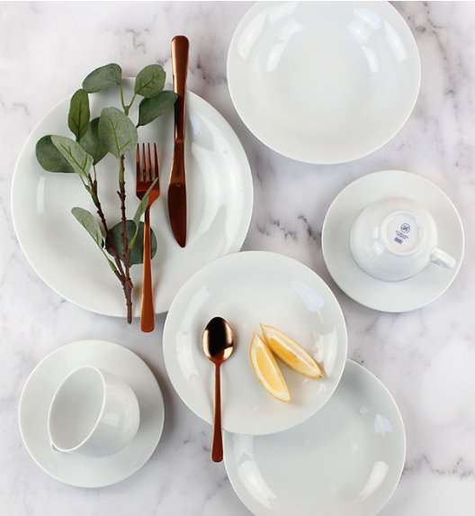 PROMOCJA! LUBIANA VENERE Serwis obiadowo - kawowy 30 elementów / 6 osób / porcelana