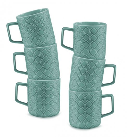 LUBIANA MARRAKESZ K5 6 x Kubek 400 ml / morski / porcelana