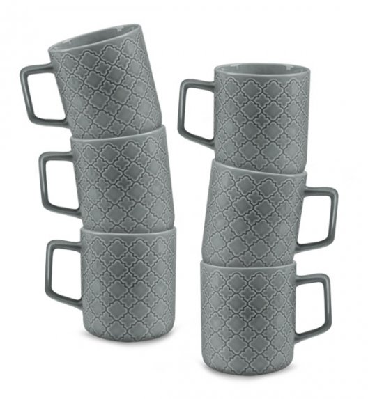 LUBIANA MARRAKESZ K1 6 x Kubek 400 ml / szary / porcelana