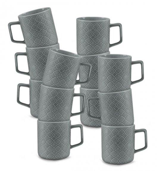 LUBIANA MARRAKESZ K1 12 x Kubek 400 ml / szary / porcelana