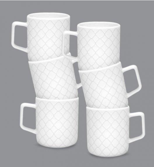 LUBIANA MARRAKESZ 6 x Kubek 400 ml / biały / porcelana