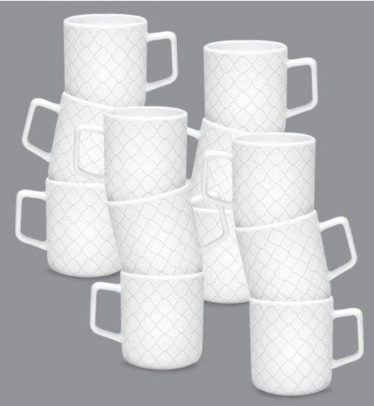 LUBIANA MARRAKESZ 12 x Kubek 400 ml / biały / porcelana