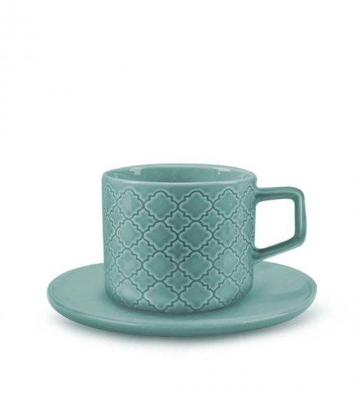 LUBIANA MARRAKESZ K5 Filiżanka 250 ml + spodek 15 cm / 2 el / morski / porcelana