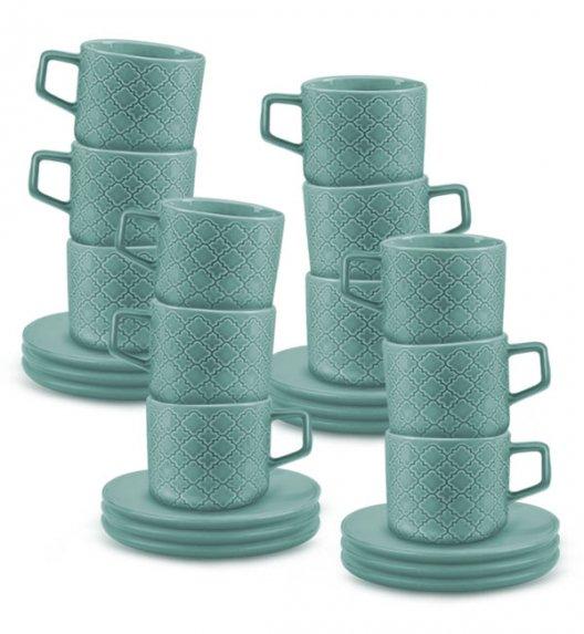 LUBIANA MARRAKESZ K5 12 x Filiżanka 250 ml + spodek 15 cm / 24 el / morski / porcelana