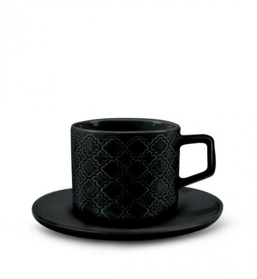 LUBIANA MARRAKESZ K8 Filiżanka 250 ml + spodek 15 cm / 2 el / czarny / porcelana